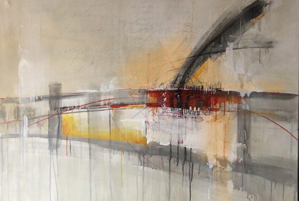 Ale Feijó | Parte de mi. Técnica mixta (acrílico, tinta y marcador) sobre lienzo. 90 x 100 cm