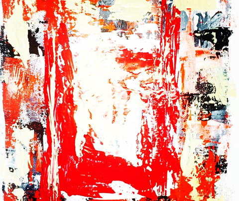 Serie Andamios | Andamios II Acrílico sobre bastidor. 25 x 25 cm.
