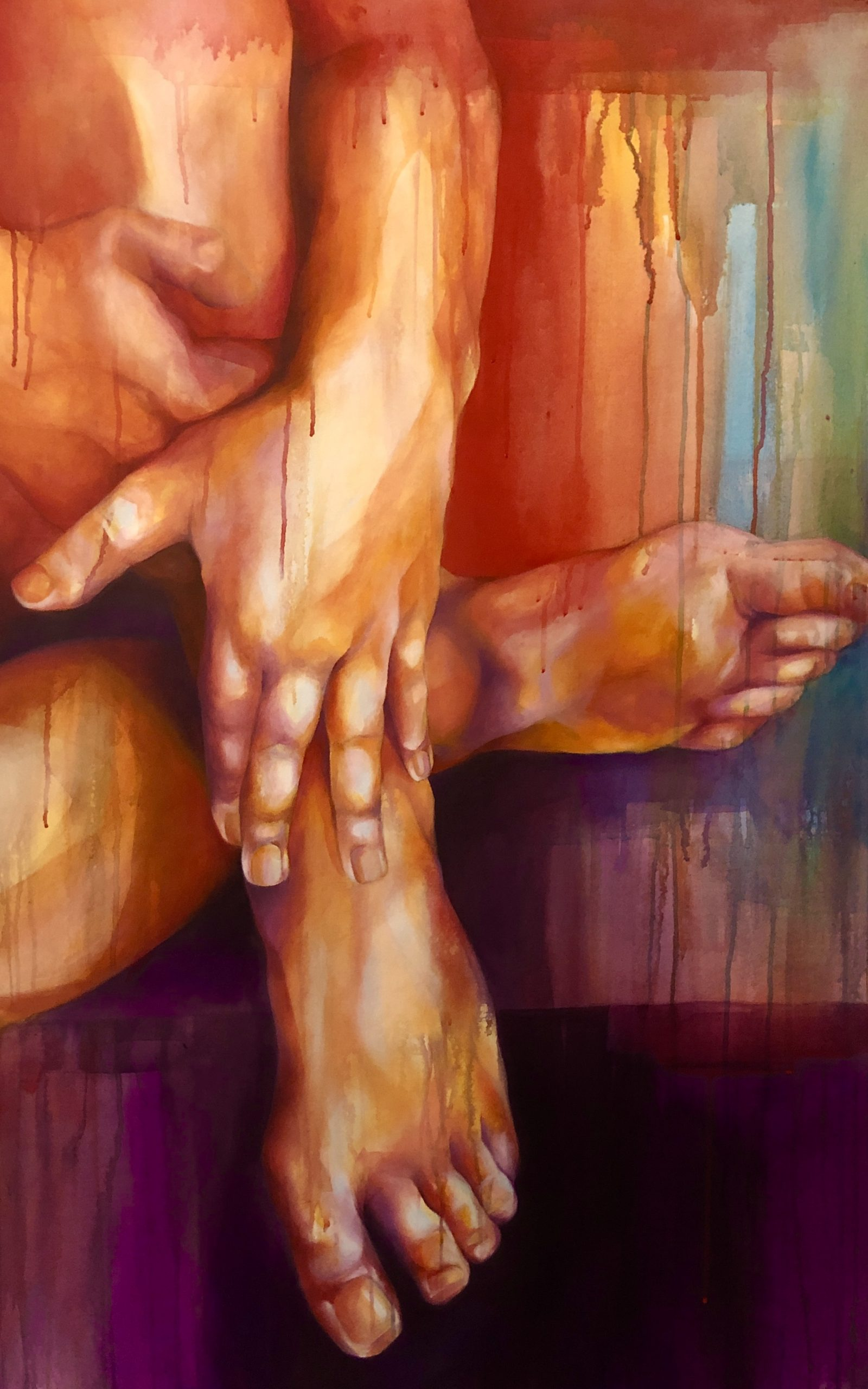 Ale Feijó | Serie Cuerpos Color. acrílico sobre lienzo. 70 x 110 cm