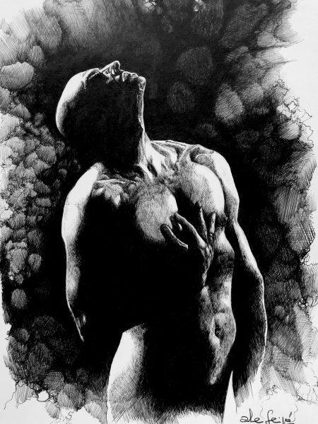 Ale Feijó | Serie Dibujar. Bolígrafo sobre papel. 21 x 29 cm