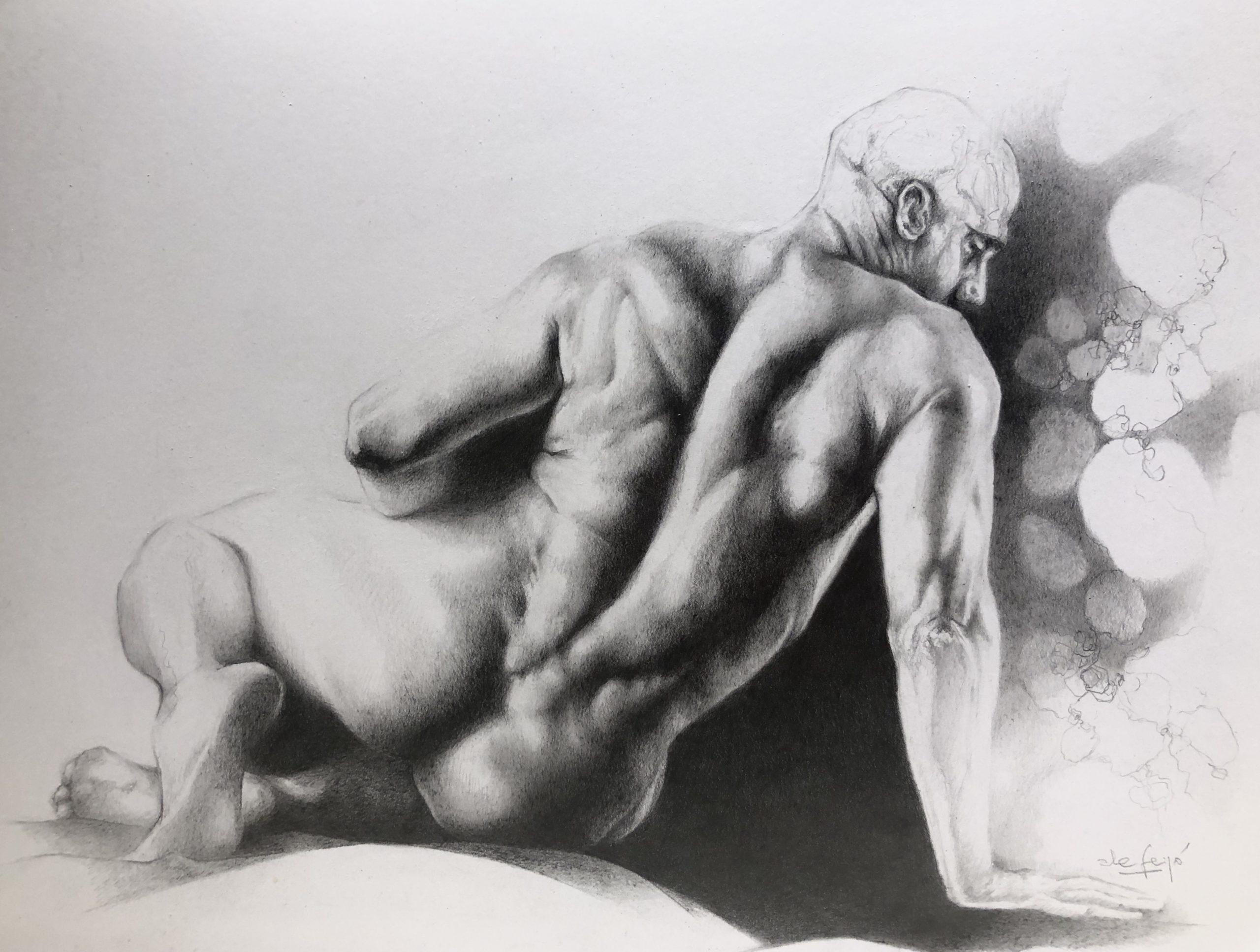 Ale Feijó | Serie Dibujar. Lápiz sobre papel. 21 x 29 cm