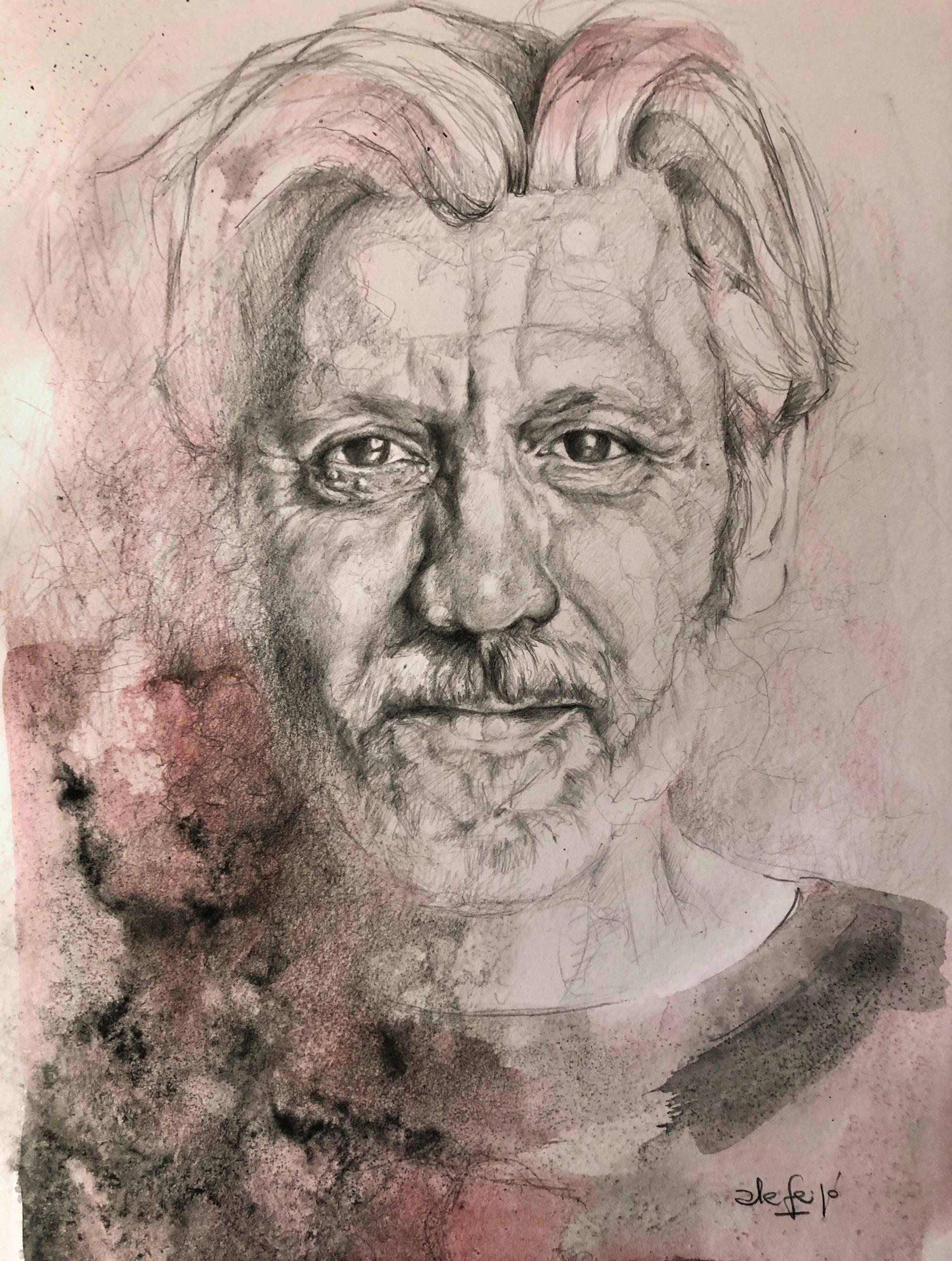 Ale Feijó | Serie Retratos. Araldi. Lápiz sobre papel. 21 x 29 cm