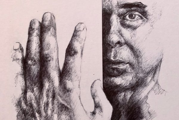 Ale Feijó | Serie Retratos Claudio. Bolígrafo sobre papel. 21 x 29 cm