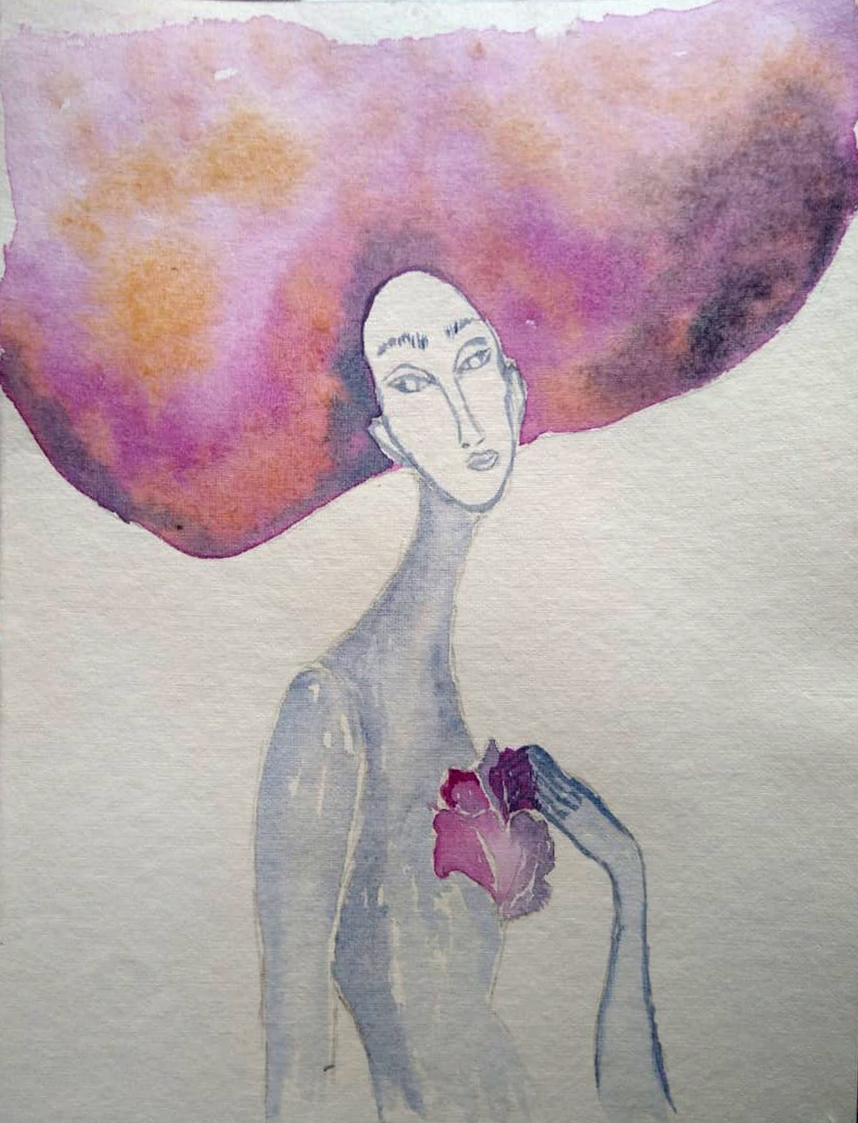 Sandra Bastida | Corazón de pétalos II