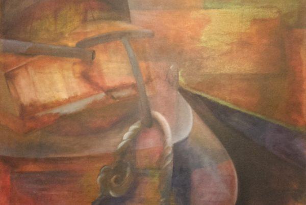 Adriana Furstner | Serie Obra en bastidor. Partida. Técnica: óleo sobre tela. 50 x 60Cm. 2015
