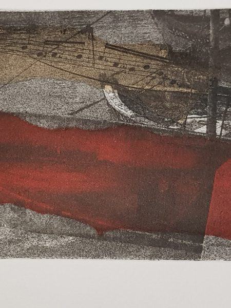 Adriana Furstner | Serie fotograbado. Juntos 1. Chine colle. 21 x 10 cm. 2018