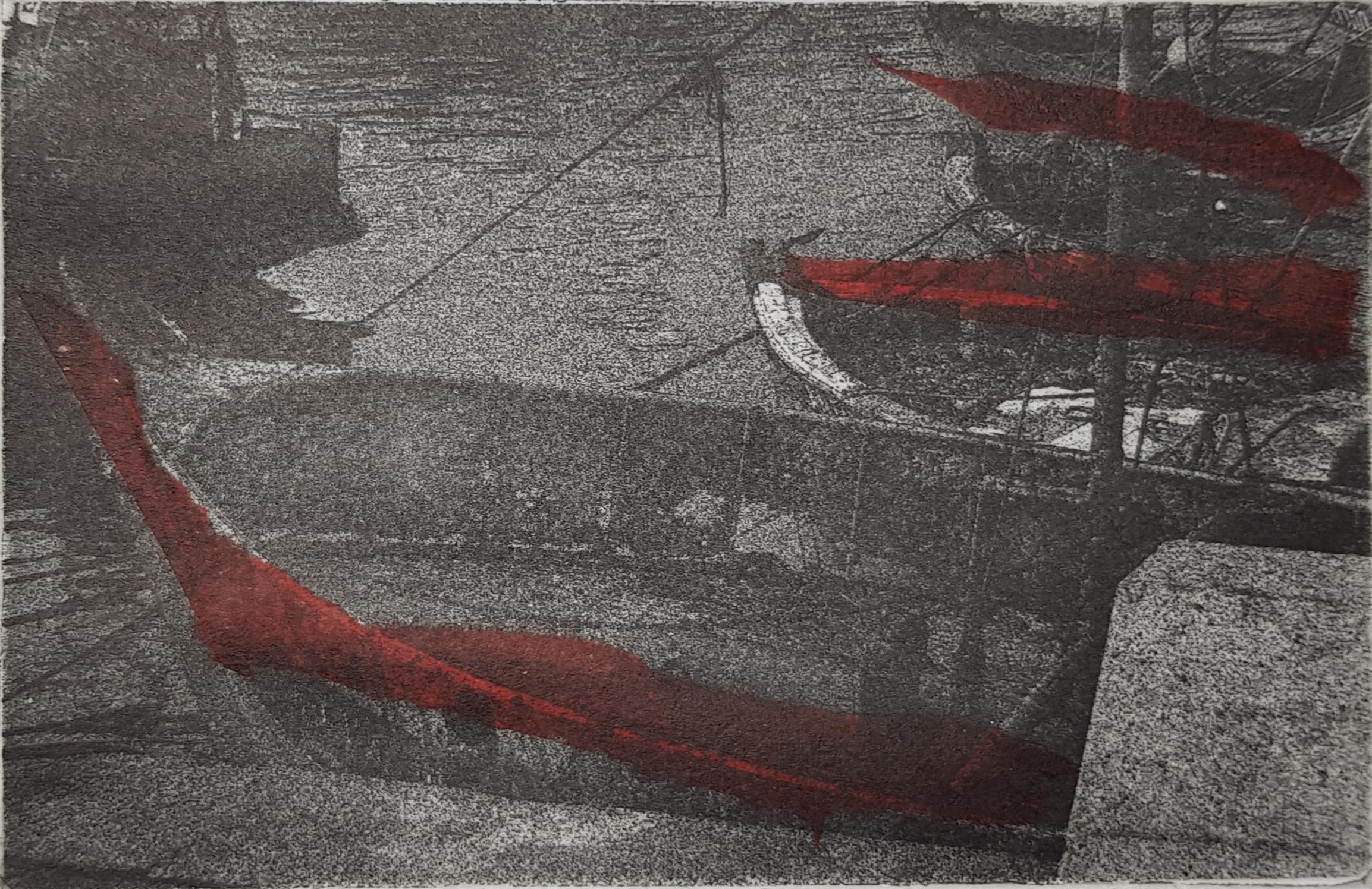 Adriana Furstner | Serie fotograbado. Juntos 3. Chine colle. 14,7 x 9,7 cm. 2018