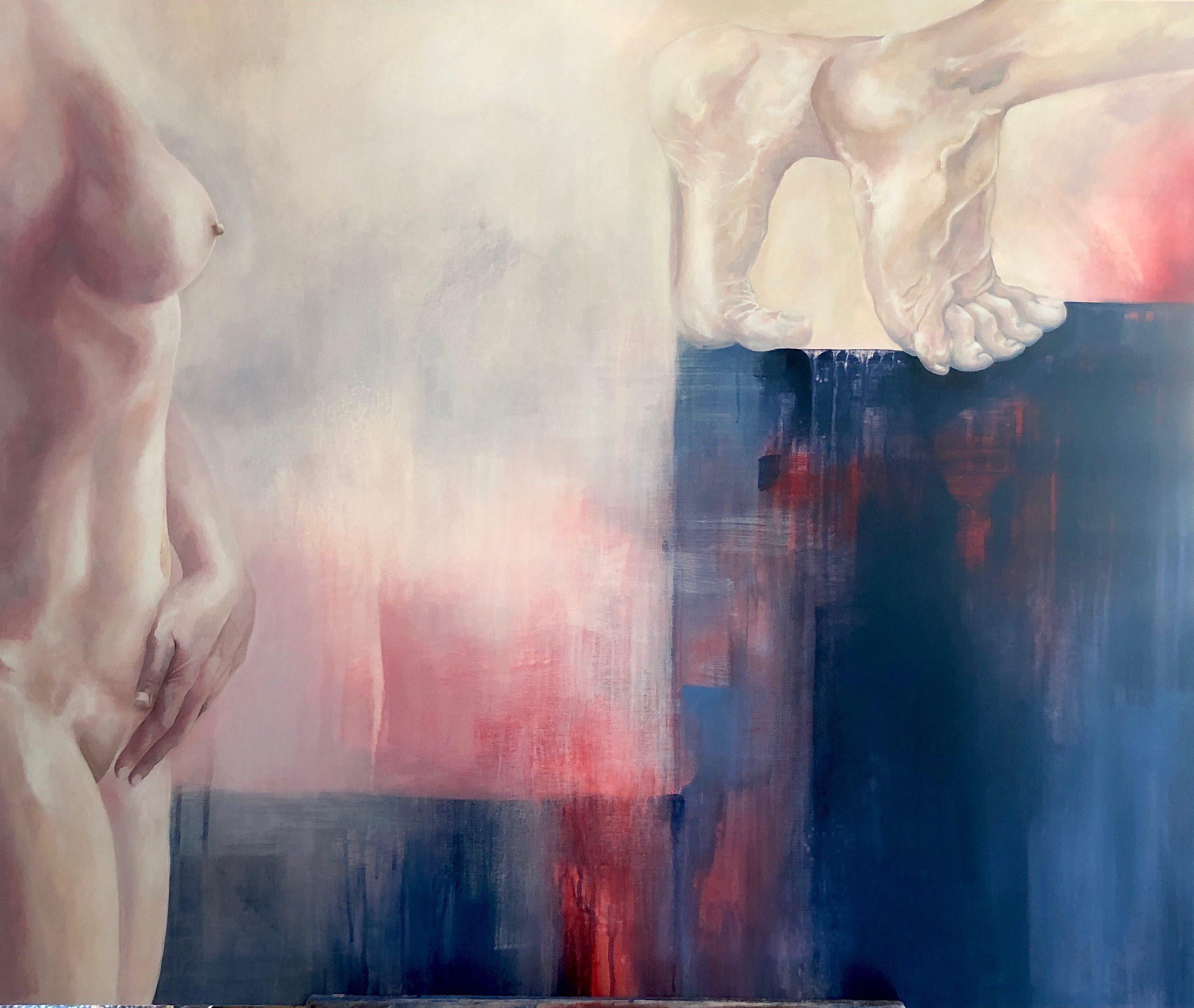 Ale Feijó | Poética de la partida, acrílico sobre lienzo, 120 x 100 cm