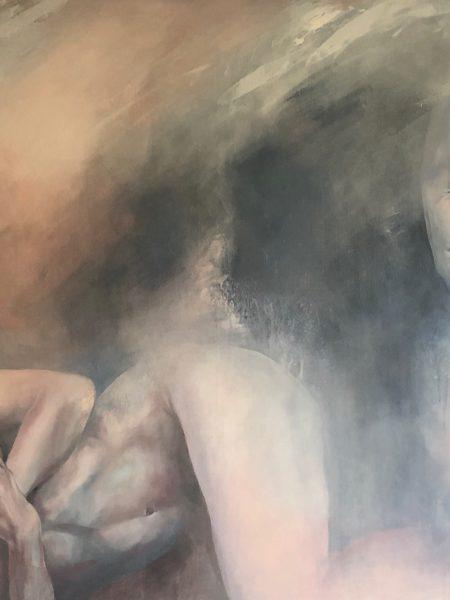 Ale Feijó | Cuando pase la tormenta, acrílico sobre lienzo, 120 x 90