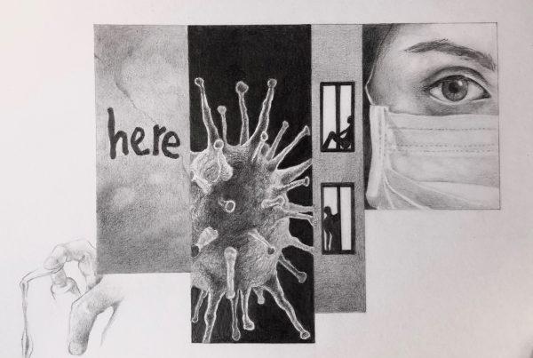 Ale Feijó | Pandemia I | Lápiz sobre papel de 240 gr. 27 x 21 cm