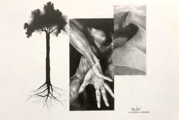 Ale Feijó | Pandemia II | Lápiz sobre papel de 240 gr. 27 x 21 cm