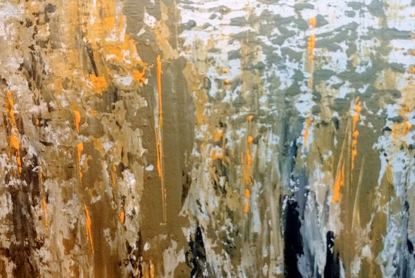 Silvia Portaluppi | Serie Abstractos. En el humedal. Acrílico 50 x 50 cm.