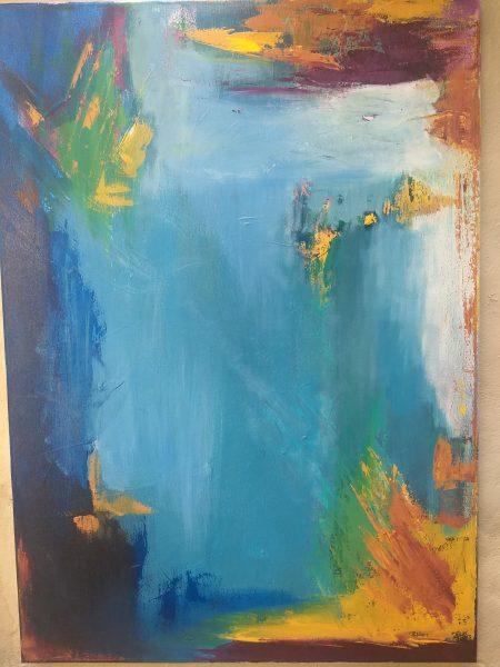 Silvia Portaluppi | Serie Abstractos. Salida. Acrílico 50 x 70 cm.