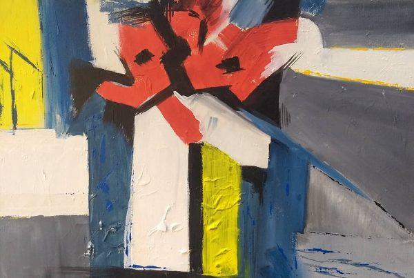 Silvia Portaluppi | Serie Abstractos. Buenos Aires me mata. Acrílico 50 x 70 cm.