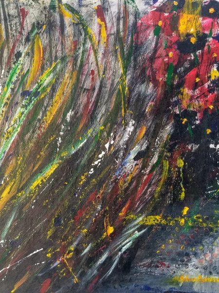 Silvia Portaluppi | Serie Abstractos. Lo incorrecto. Acrílico sobre MDF 60 x 60 cm.