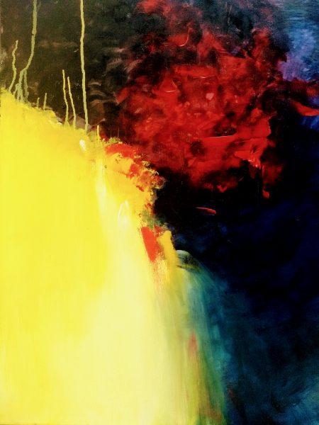 Silvia Portaluppi | Serie Abstractos. Universo. Acrílico 60 x 80 cm.