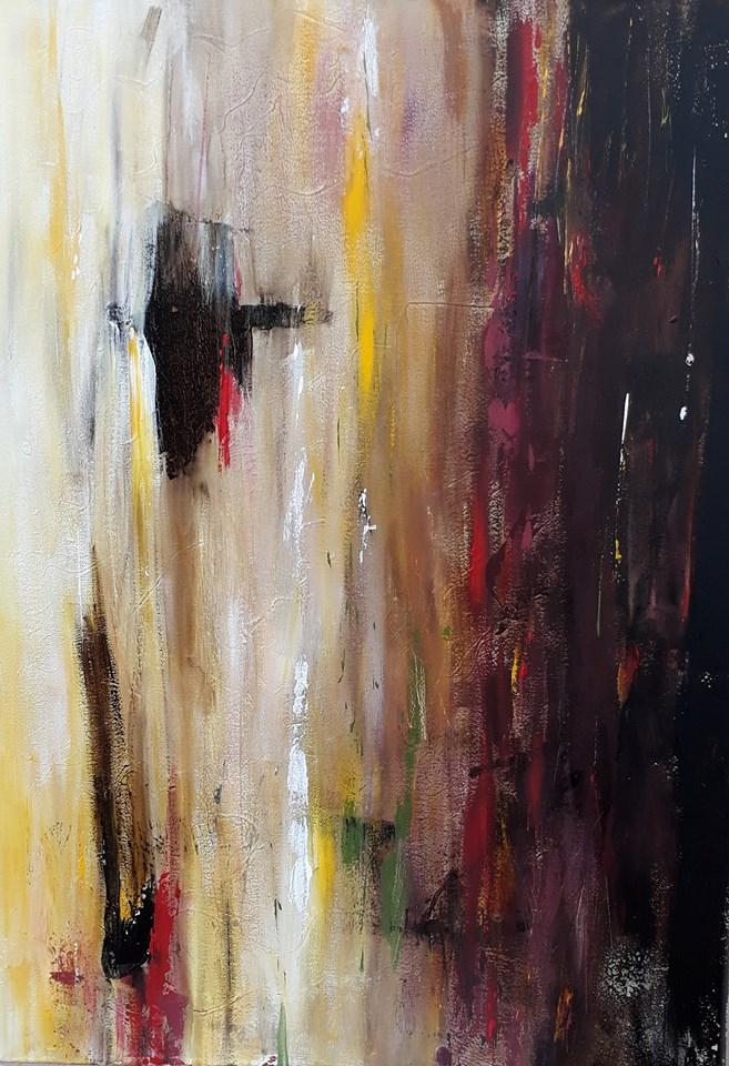Silvia Portaluppi | Serie Abstractos. Silencio. Acrílico 50 x 70 cm.