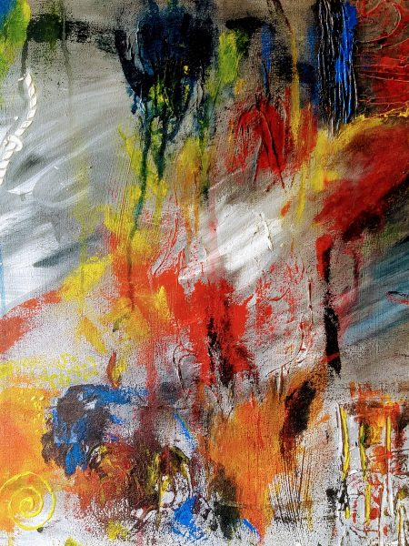 Silvia Portaluppi | Serie Abstractos. Cicatrices. Técnica mixta 50 x 70 cm.