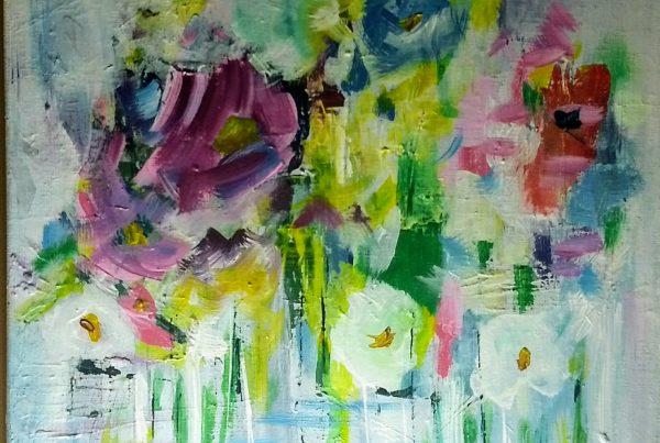 Silvia Portaluppi | Serie Natural. Flores. Acrílico 40 x 40 cm.