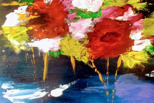 Silvia Portaluppi | Serie Natural. Bouquet. Acrílico sobre MDF 40 x 40 cm.