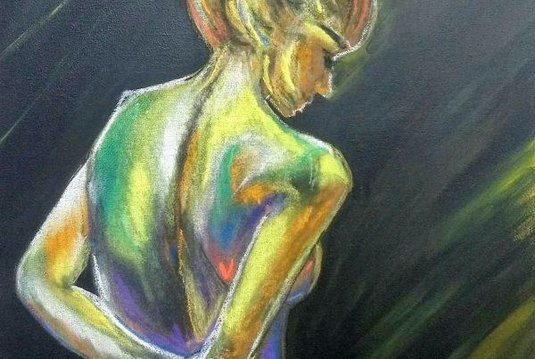 Silvia Portaluppi | Serie Pastel Tiza. Mujer. Pastel Tiza 50 x 70 cm.